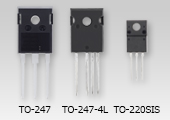 "The package photograph of lineup expansion of the new generation super junction N-ch power MOSFET ""DTMOSVI series"" contributing to higher efficiency of power supplies: TK040Z65Z, TK065N65Z, TK065Z65Z, TK090N65Z, TK090Z65Z, TK090A65Z."