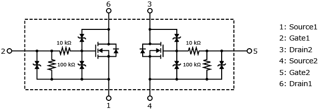 small dual mosfet for relay drivers  ssm6n357r