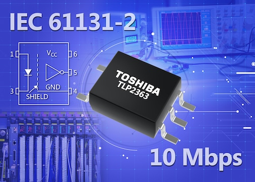 Toshiba launches a 10Mbps logic output photocoupler for PLCs