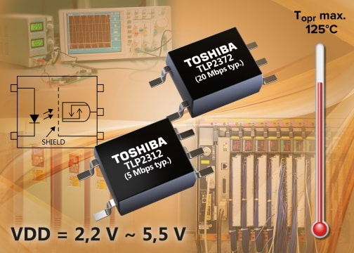 Toshiba Releases Industry's First High-Speed Communications Photocouplers that can operate from a 2.2V supply