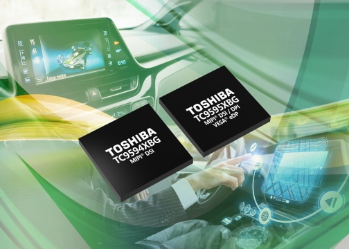 Toshiba adds automotive display interface bridge ICs for IVI systems