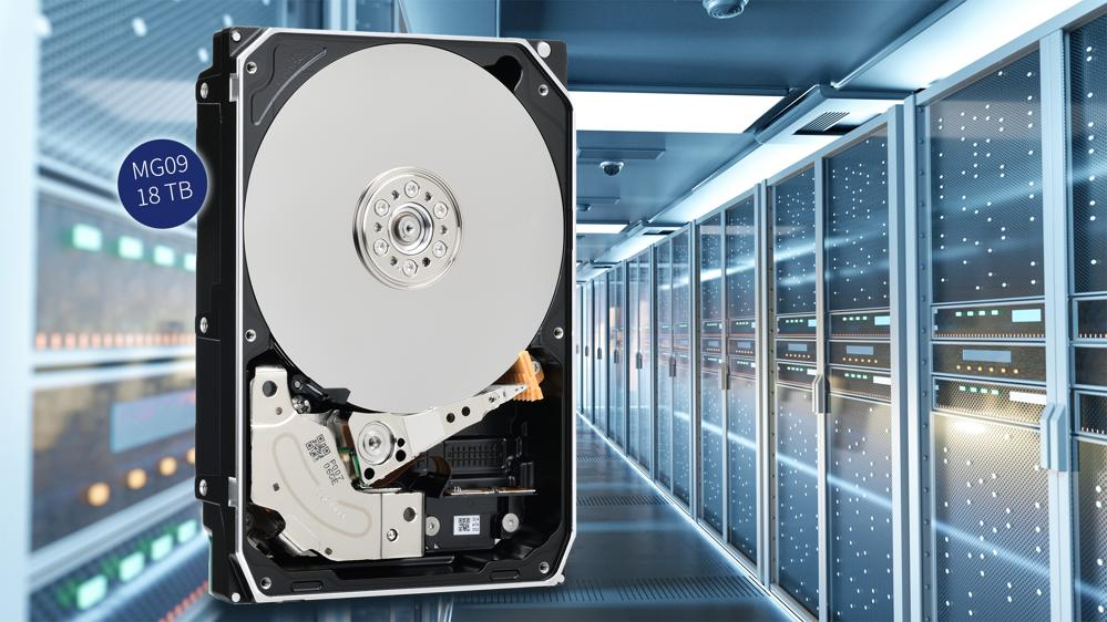 Toshiba Unveils New 18TB MG09 Series Hard Disk Drives