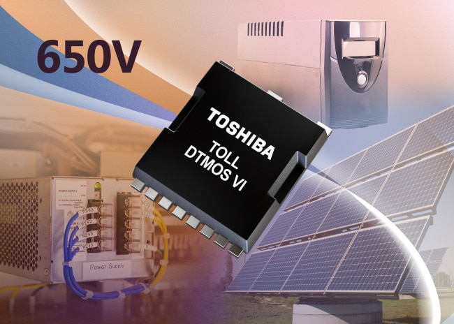 Toshiba's announces five 650V superjunction power MOSFETs housed in the new TOLL package