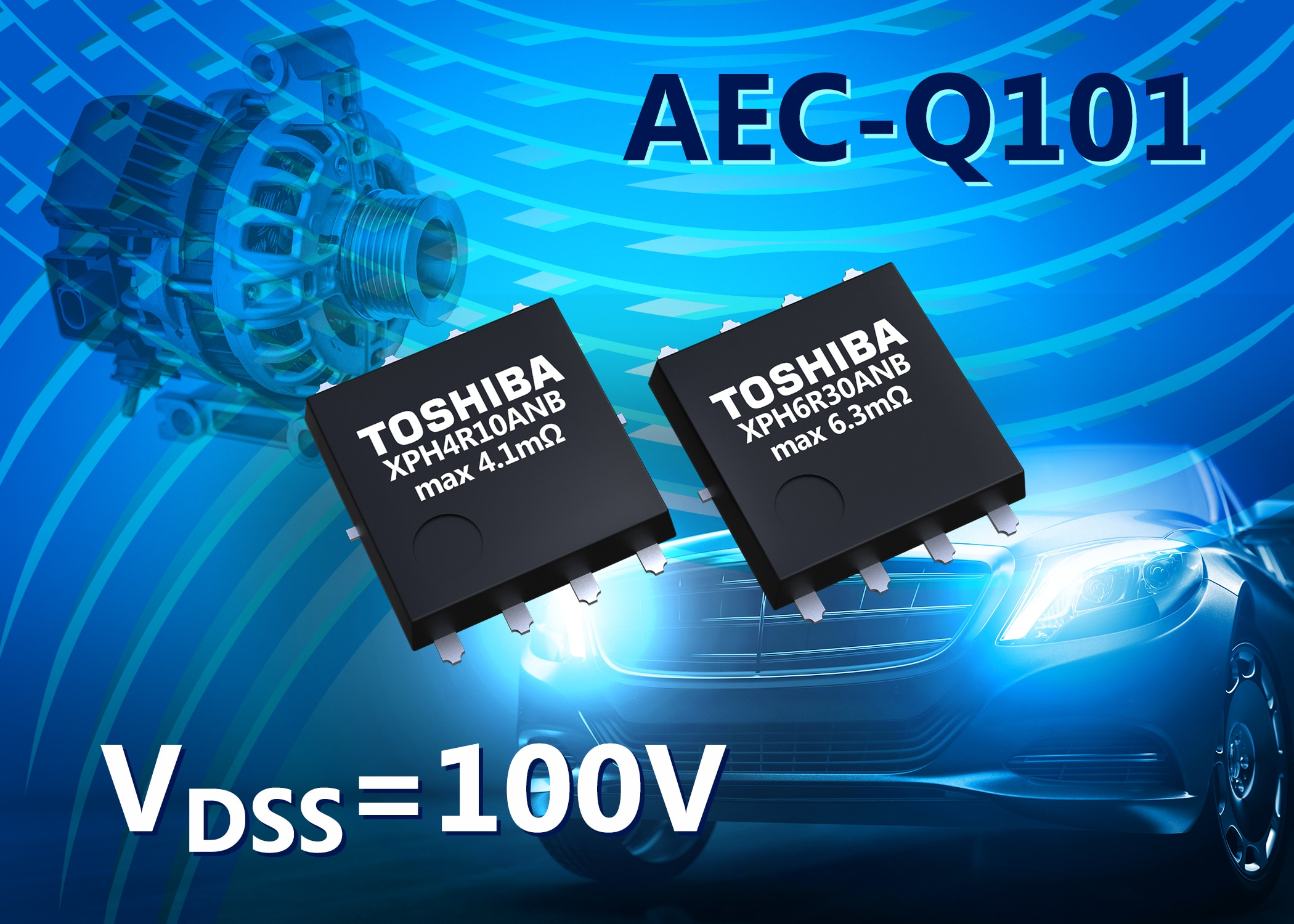 100V N-channel MOSFETs