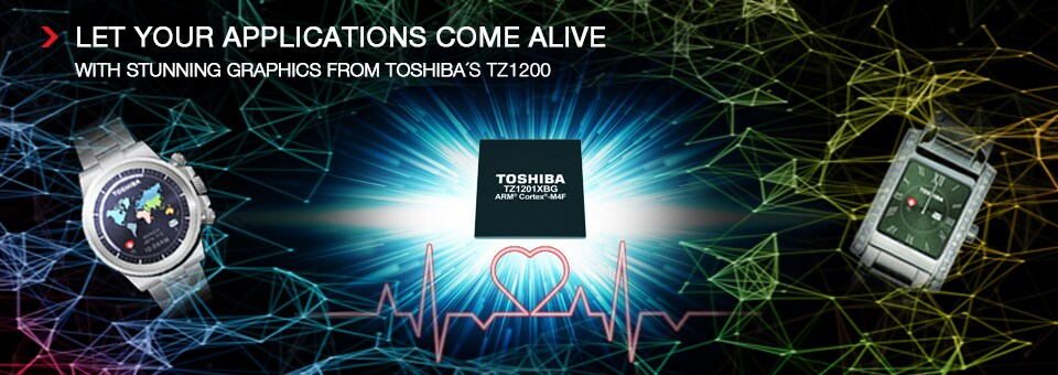 Let your applications come alive with stunning graphics from Toshiba's TZ1200
