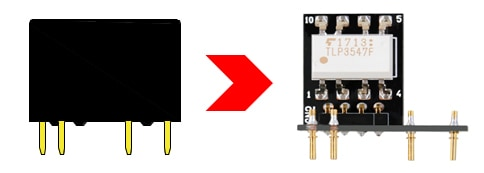 Evaluation board for checking photorelay operation