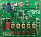 A photo of single-phase, axial-flow fan motor evaluation board.
